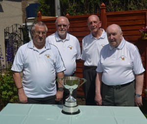 E.L.B.A. Senior Fours 2014 Winners Bob Bain, Harry Hastie, Alex Young Ron.MacDonald